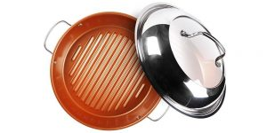 NuWave 11-Inch Stainless Steel Grill Pan with Lid