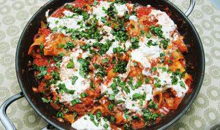 Easy Homemade Skillet Lasagna